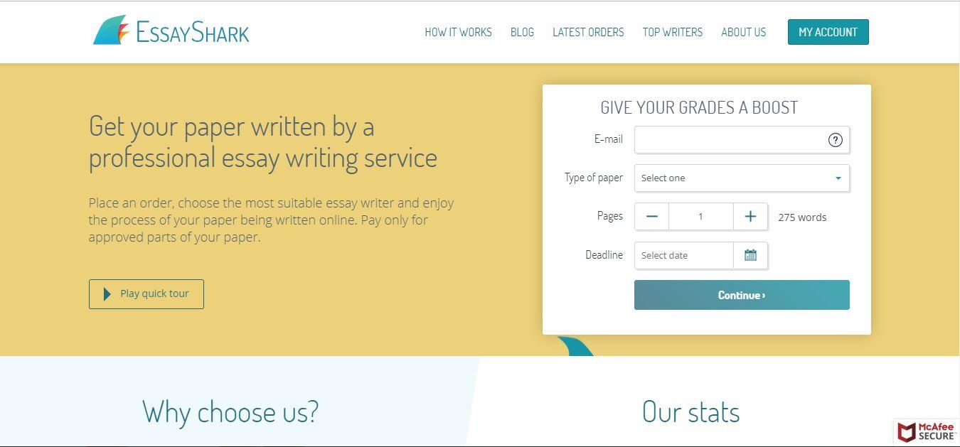 Writers essayshark review